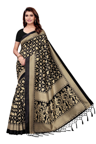 Black Color Art Silk Jhalor Women's Saree - S182578
