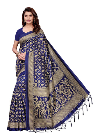 Royal Blue Color Art Silk Jhalor Women's Saree - S182580
