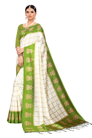 Green Color Art Silk Jhalor Women's Saree - S183177
