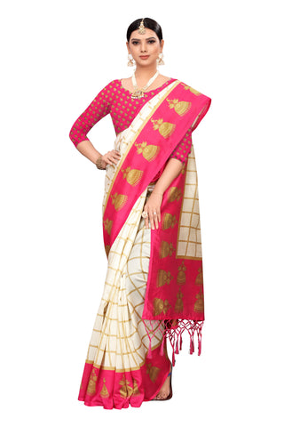 Pink Color Art Silk Jhalor Women's Saree - S183178