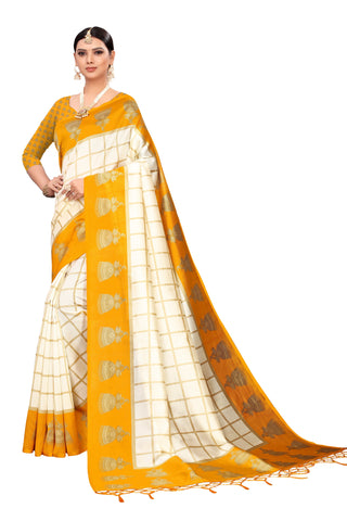 Yellow Color Art Silk Jhalor Women's Saree - S183180