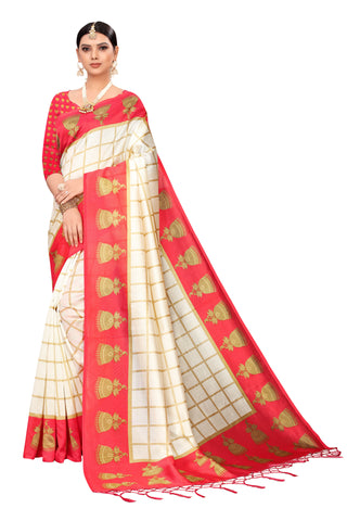 Red Color Art Silk Jhalor Women's Saree - S183181