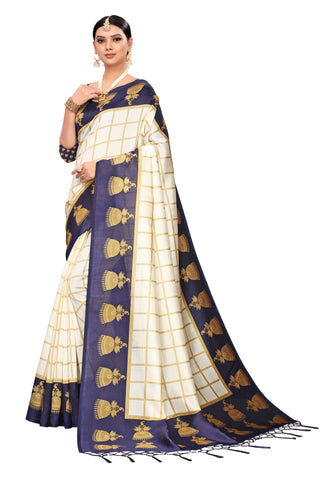 Navy Color Art Silk Jhalor Women's Saree - S183183