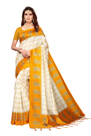 Yellow Color Art Silk Jhalor Women's Saree - S183212