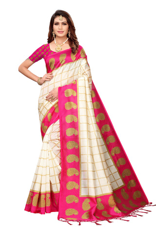 Pink Color Art Silk Jhalor Women's Saree - S183213