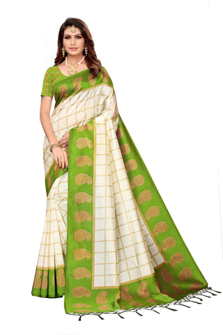 Green Color Art Silk Jhalor Women's Saree - S183215
