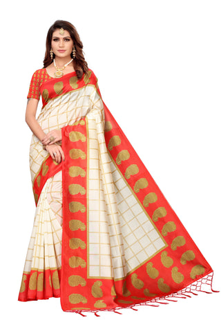 Red Color Art Silk Jhalor Women's Saree - S183217