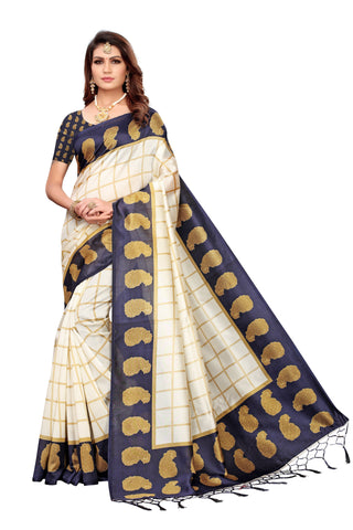 Navy Color Art Silk Jhalor Women's Saree - S183218