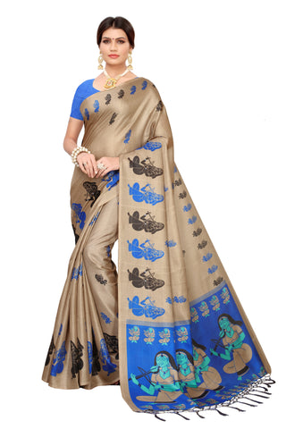 Cream Color  Jhalor Women's Saree - S183225