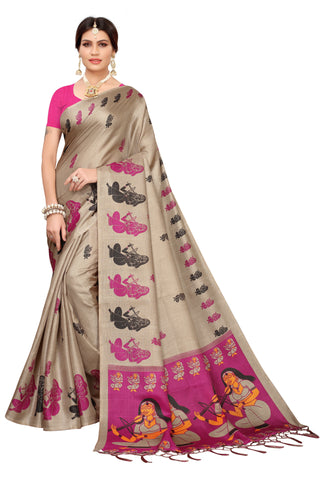 Cream Color  Jhalor Women's Saree - S183228