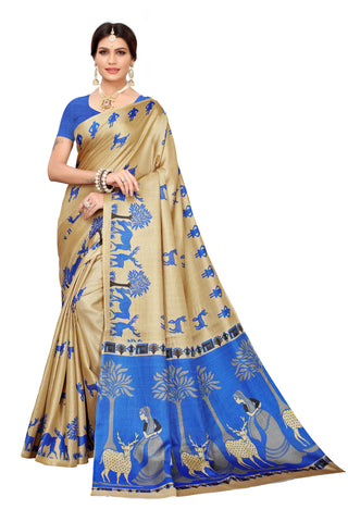 Cream Color Khadi Silk Women's Saree - S183239