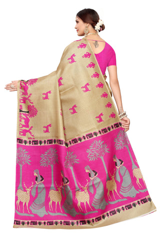 Cream Color Khadi Silk Women's Saree - S183240