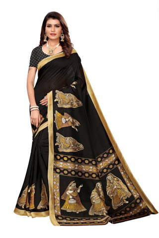 Black Color Art Silk Women's Saree - S183408