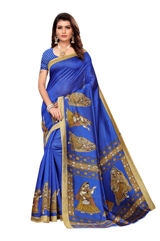 Blue Color Art Silk Women's Saree - S183409