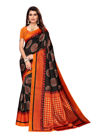 Black Color Art Silk Women's Saree - S183412