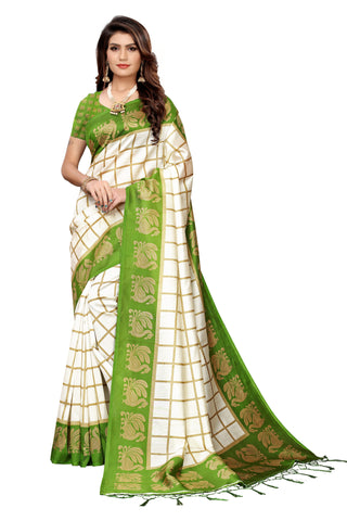 Green Color Art Silk Jhalor Women's Saree - S183490