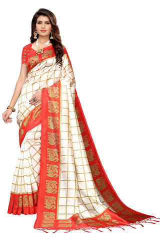 Red Color Art Silk Jhalor Women's Saree - S183491