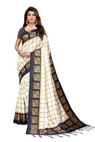 Navy Color Art Silk Jhalor Women's Saree - S183492