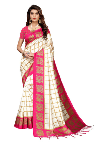 Pink Color Art Silk Jhalor Women's Saree - S183493