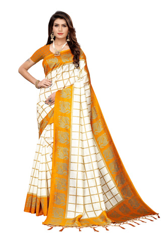 Yellow Color Art Silk Jhalor Women's Saree - S183496