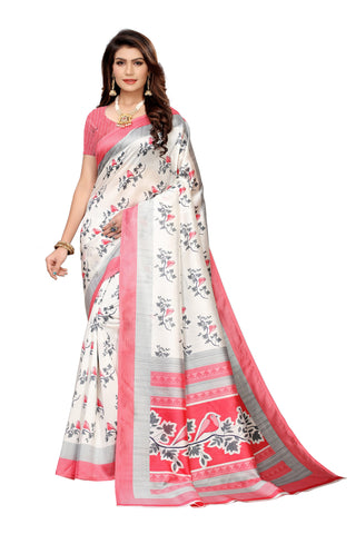 Off White Color Art Silk Women's Saree - S183510