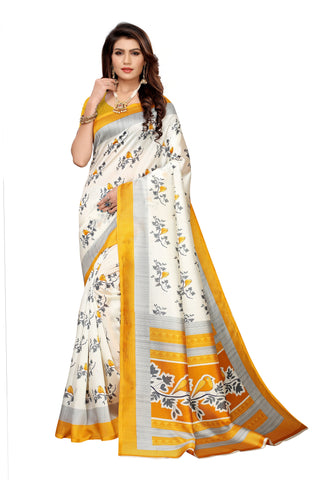 Off White Color Art Silk Women's Saree - S183512