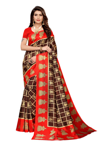 Brown Color Art Silk Women's Saree - S183522
