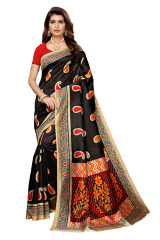 Black Color Art Silk Women's Saree - S183574