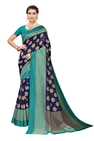 Navy Color Art Silk Women's Saree - S183652