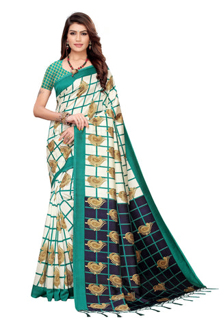 Turquoise Color Art Silk Jhalor Women's Saree - S183780