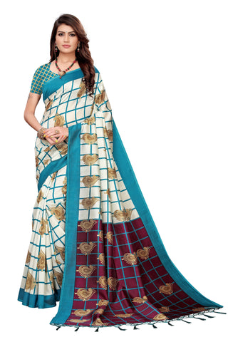 Turquoise Color Art Silk Jhalor Women's Saree - S183781