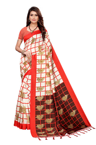 Red Color Art Silk Jhalor Women's Saree - S183782