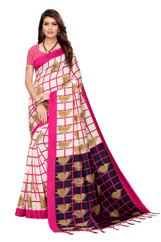 Pink Color Art Silk Jhalor Women's Saree - S183785