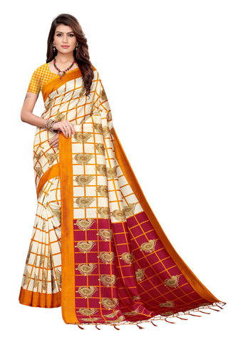 Yellow Color Art Silk Jhalor Women's Saree - S183786