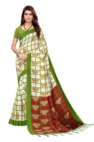 Green Color Art Silk Jhalor Women's Saree - S183787
