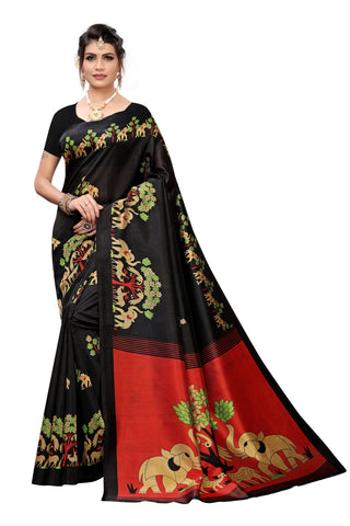 Black Color Art Silk Women's Saree - S184448
