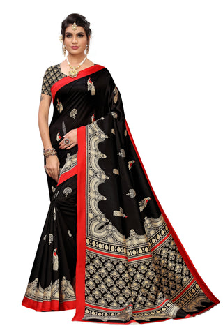 Black Color Art Silk Women's Saree - S184457