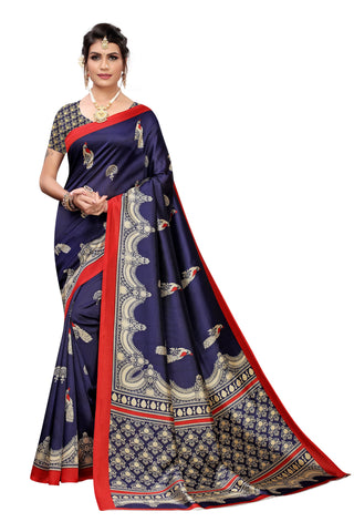 Navy Color Art Silk Women's Saree - S184461