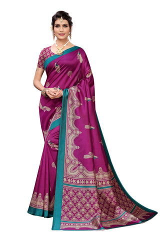Purple Color Art Silk Women's Saree - S184463