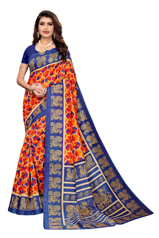 Navy Color Joya Silk Women's Saree - S184599