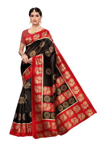 Red Brown Color Art Silk Women's Saree - S184813