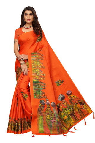 Orange Color  Jhalor Women's Saree - S184818