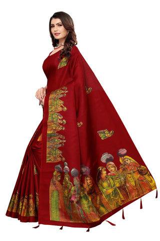 Maroon Color  Jhalor Women's Saree - S184820