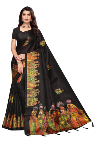 Black Color  Jhalor Women's Saree - S184824