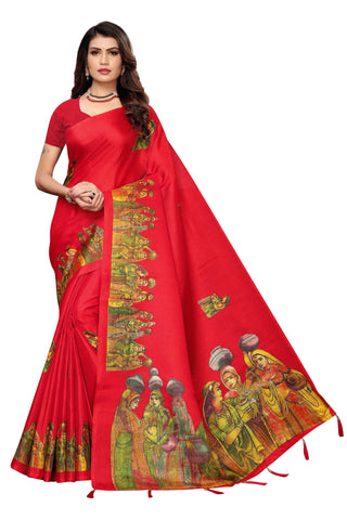 Red Color  Jhalor Women's Saree - S184825