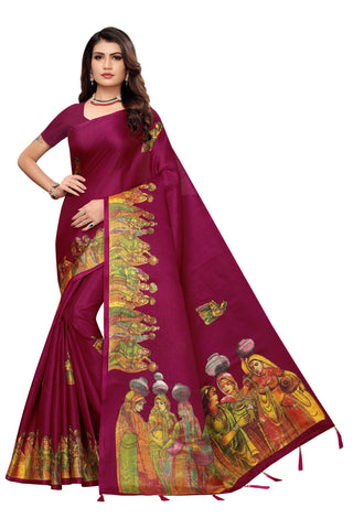 Maroon Color  Jhalor Women's Saree - S184827