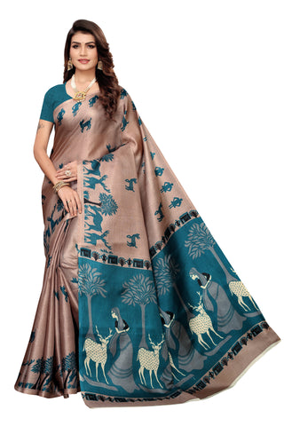 Cream Color Khadi Silk Women's Saree - S185034