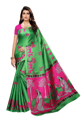 Green Color  Silk Women's Saree - S185035