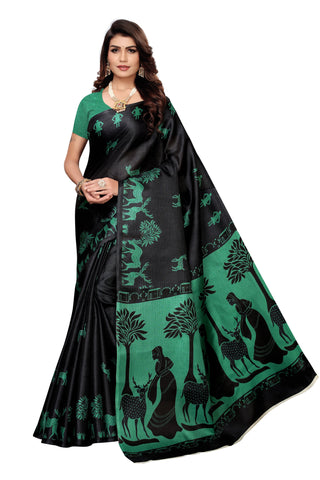 Black Color  Silk Women's Saree - S185036