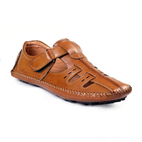 BROOKE Brown Color Synthetic Men Casual Shoes - SANDAL100